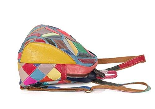 FEN Caractéristiques sacs à main en cuir coloré sac à main a frappé le sac à bandoulière décontracté sac à dos décontracté