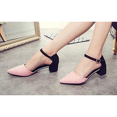 LFNLYX Donna tacchi Primavera Estate Autunno Comfort PU Casual tacco basso altre nere rosa grigio altri Gray