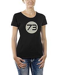 Touchlines Damen T-Shirt Sheldons Best Number 73 Girlie