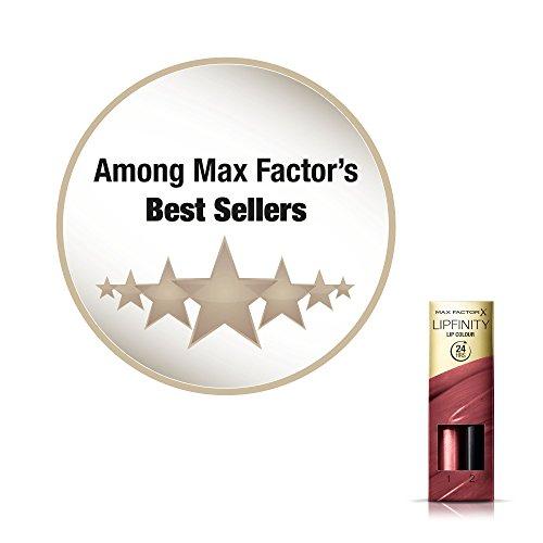Max Factor Lipfinity Lip Colour Rossetto Lunga Durata e Gloss Idratante, con Applicazione Bifase, 108 Frivolous