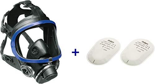 Dräger X-plore 5500 Vollmasken-Set inkl. Pure P3 Partikelfilter | Universalgröße | Atemschutz-Maske für Handwerker und Heimwerker gegen Fein-Staub/Partikel