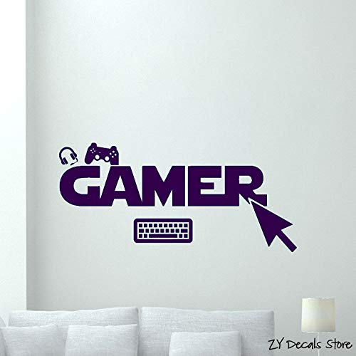 Video Game Playroom Decor Art Wandbild Removable Home Decoration Wandaufkleber- # 25x56cm