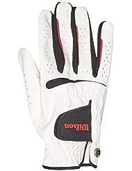 Wilson Herren Golfhandschuh, Größe ML, Rechts, MRH, Weiß, Feel Plus, WGJA00065ML