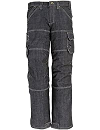 FHB 22659–22–23 Wilhelm Workwear-Jeans, Schwarz/Blau