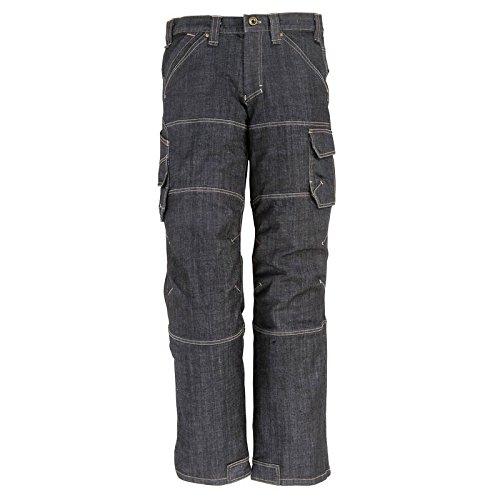 FHB 22659–22–23 Wilhelm Workwear-Jeans, Schwarz/Blau, schwarz, 2066152 (Große Jean)