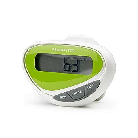 Incutex Schrittzähler Pedometer mit LCD Display tragbarer Stepcounter Kalorienmesser Entfernungsmesser ideal für Sportler