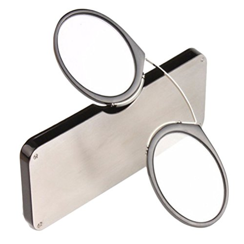 Zhhlaixing Nose Clip Wallet Reading Glasses Upscale Full Frame Lightweight TR90 Portable Personality für Lesebrille Herren Damen