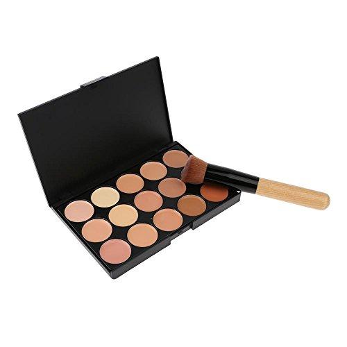 VANKER 15 Couleurs Correcteur Palette d'ombres Kit Avec Crème Contour Maquillage Pinceau à Poudre 2#