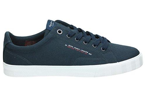 Pepe Jeans London Herren New North Basic Sneaker Blau