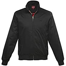 New de Londres de Merc para adaptarse al cuerpo Harrington Mod chaqueta color negro