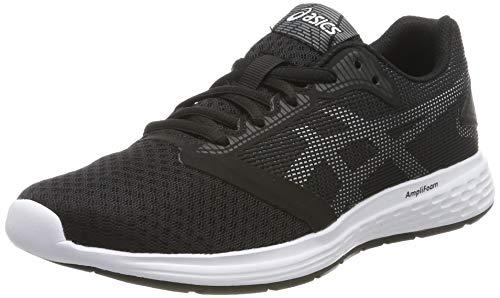 ASICS Jungen Patriot 10 GS Laufschuhe, Mehrfarbig (Black/White 004), 39 EU (Asics Laufschuhe-spikes)
