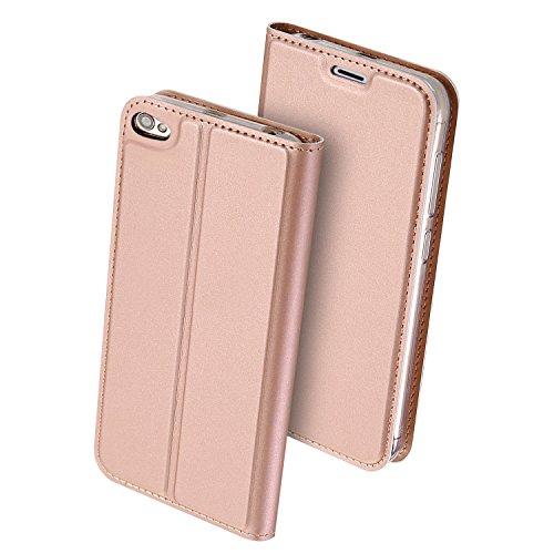 Xiaomi Redmi Note 5A Hülle,GOGME Ledertasche Wallet Case Flip Cover Tasche Leder Brieftasche Schutzhülle Schale mit Handyhülle für Xiaomi Redmi Note 5A - Rose Golden