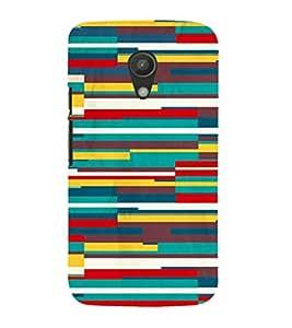 EPICCASE color blocks Mobile Back Case Cover For Moto G 2nd Gen (Designer Case)