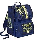 Sac à dos école Seven–Colorful Boy–Bleu Jaune–Extensible–Sérigraphie photoluminescent–28lt -