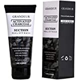 Grandeur Charcoal Peel Off Mask,100g, Blackhead Remover Mask, Face Mask, Deep Cleansing Mask, Deep Pore Cleanse for Acne, Oil Control, and Anti-Aging Wrinkle Reduction 100g