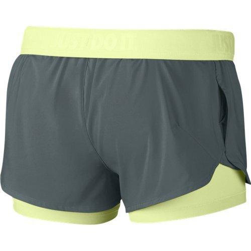 Nike - Full Flex 2-en-1 2.0 - Short pour femme Multicolore (hasta / barely volt / barely volt)