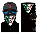 [ Winter-Fleece] Bedrucktes Multifunktionstuch Bandana Halstuch Kopftuch: Face Shield- Material ist flexibel und atmungsaktiv - Maske fürs Motorrad-, Fahrrad- und Skifahren