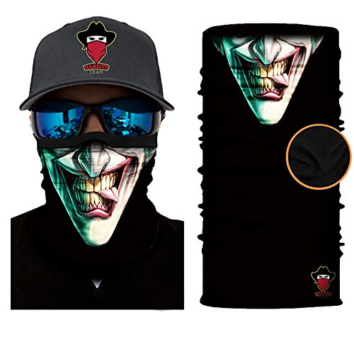 [ Winter-Fleece] Bedrucktes Multifunktionstuch Bandana Halstuch Kopftuch: Face Shield- Material ist flexibel und atmungsaktiv - Maske fürs Motorrad-, Fahrrad- und ()