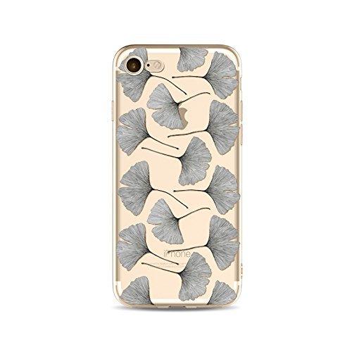 Coque iPhone 7 Housse étui-Case Transparent Liquid Crystal en TPU Silicone Clair,Protection Ultra Mince Premium,Coque Prime pour iPhone 7-Les feuilles-style 11 3