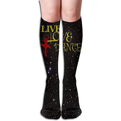 Preisvergleich Produktbild Wfispiy Live Love Dance 3D Printing Casual Compression Socks