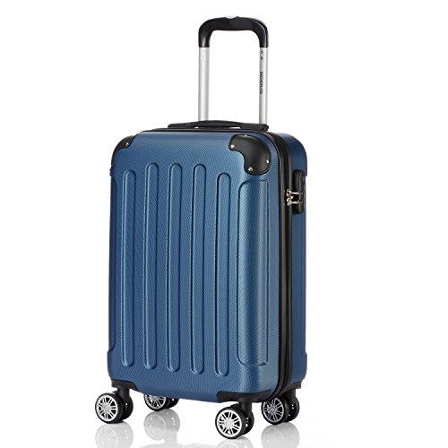 2045 Reisekoffer Koffer Trolley Hartschale XL-L-M in 12 Farben (Dunkelblau,L)