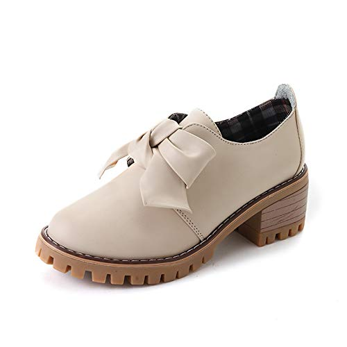 PINGXIANNV College-Schuhe Dick Mit Schuhen High Heels Student Schuhe Roman Schuhe,38