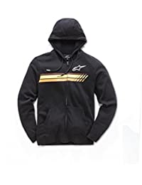 Alpinestars Men's Full Zip Hooded Sweatshirt Modern Fit 200 GSM Motorsports Fleece