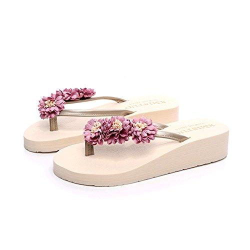 Chaussons Porter des Sandales à Semelles épaisses Pantoufles d'été Femme Tongs Modular Beach Shoes