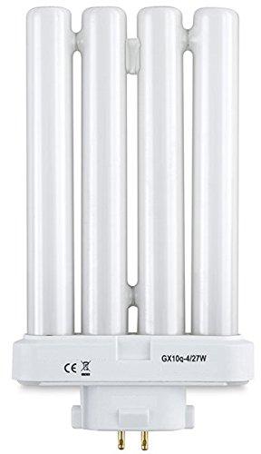2 x 27w PLS Daylight Bulbs for High Vision Reading Lamps 4pin FML T4 GX10Q-4 Quad Tube