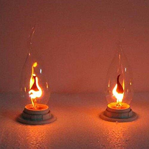 Bazaar Ziehen Schwanz E14 3W Edison Birne Kerze Flamme Blase gelbes Licht 220V