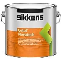Sikkens Cetol Novatech Löselmittelreduzierte Dünnschicht-Holzschutzlasur Seidenglänzend 1 Liter , Farbe:Ebenholz 020