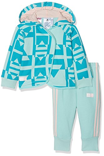 ADIDAS Mädchen Disney Die Eiskönigin Jogginganzug Trainingsanzug, Eneaqu/Myspet/Icepnk, 98