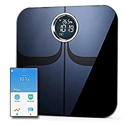 Body Fat Monitor Bluetooth Smart Waage ITO Gehärtetes Glas Oberfläche Digital Electronic Health Weighher