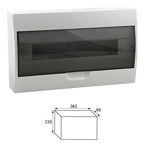 Preisvergleich Produktbild Sicherungskasten Kleinverteiler IP40 aufputz Unterverteilung 1-2 reihig 4,6,8,12,18,24,36 Module (18 Module / 1-reihig)
