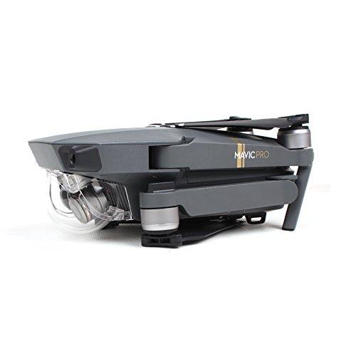 Preisvergleich Produktbild Fulltime® New Transparent Gimbal HD-Objektiv-Filter-Abdeckungs-Schutz-Objektiv mit Kapuze Kamera Schutzhülle für DJI Mavic Pro Drone (Transparent)
