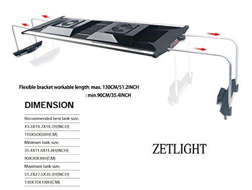 Aquarium LED Beleuchtung Zetlight AQUA Serie, moderne Aquariumbeleuchtung für Garnelen oder Nanobecken (ZA-1200 Süßwasser) - 8