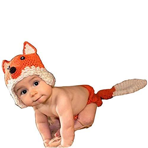 Fengbingl-cl Baby-Fotografie-Kleidung Unisex Neugeborenen Boy Girl Crochet Gestrickte Baby Kostüm Set Foto Shooting Outfits Baby häkeln Kostüm Outfits Fotografie Requisiten (Neugeborene Gestrickt Boy)