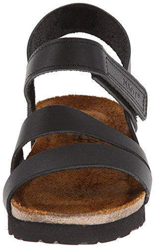 Naot Womens Kayla Leather Sandals Black Matte Leather