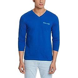 Chromozome Men's Cotton T-Shirt (OS-7 Ocean Blue M)
