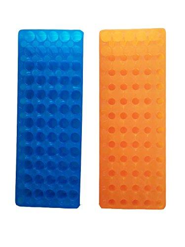 Orange/Blau Tube Rack Doppel Panel 60Positionen Polypropylen für Microcentrifuge Röhren 0,5/1,5ml (2Stück) -