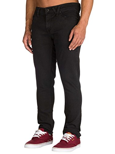 Volcom Herren, Straight Leg, Jeans, 2X4 DENIM Ink Black