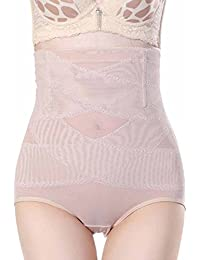 Chumian Damen Miederhose Slip mit Bauch-weg-Effekt Control Panty High Waist Unterwäsche Shapewear