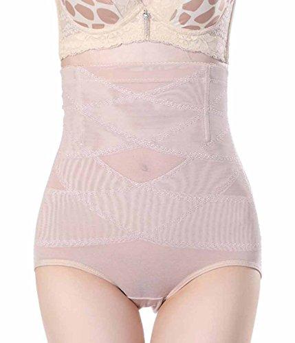 Chumian Damen Miederhose Slip mit Bauch-weg-Effekt Control Panty High Waist Unterwäsche Shapewear (2XL(Fit 26.7--28.7 Inch Waist), Beige(3-5 Days Delivery)) Control-fit-jeans