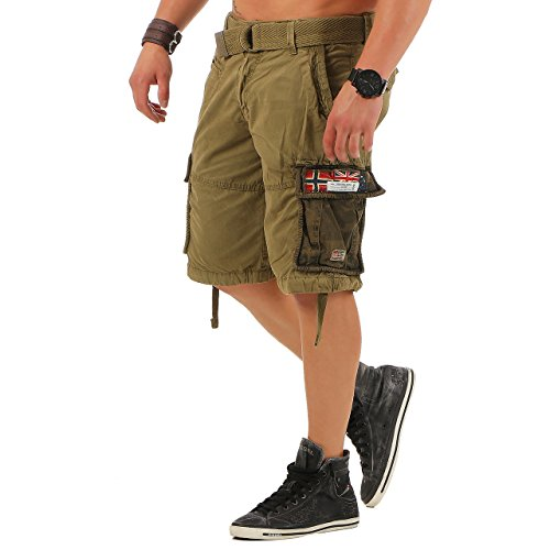 99r2 geographical norway paragone herren cargo shorts bermuda mastic gr. s