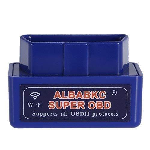 KKmoon WiFi OBD OBDII Auto Diagnóstico Herramienta Escáner Lector de Código Compatible con Smartphone Android iOS, Azul