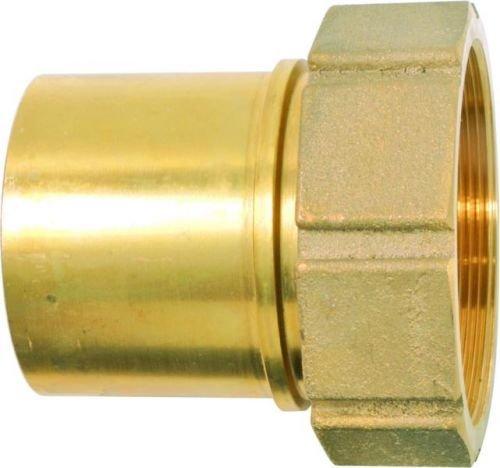 Geka TW1232 Schlauchstutzen TW IG G 1 1/4 Zoll MS drehbar mit Sicherungsbund, Gold, 18 x 8 x 13 cm