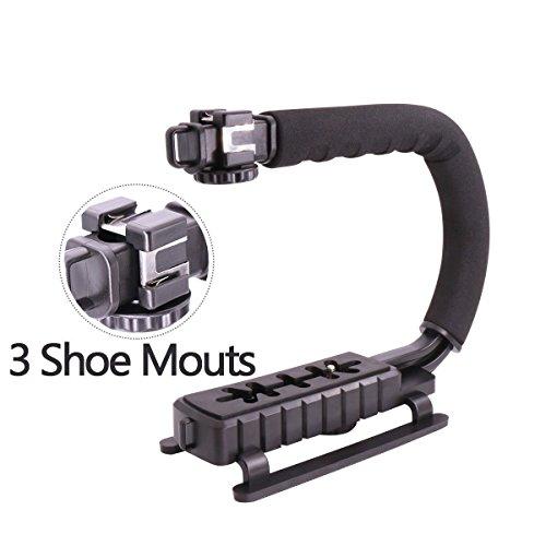 U-Grip Verdreifachen 3 Schuh Montieren Video Aktion Stabilisierungs Griff Rig für iPhone 7 Plus Canon Nikon Sony DSLR Kamera / Camcorder