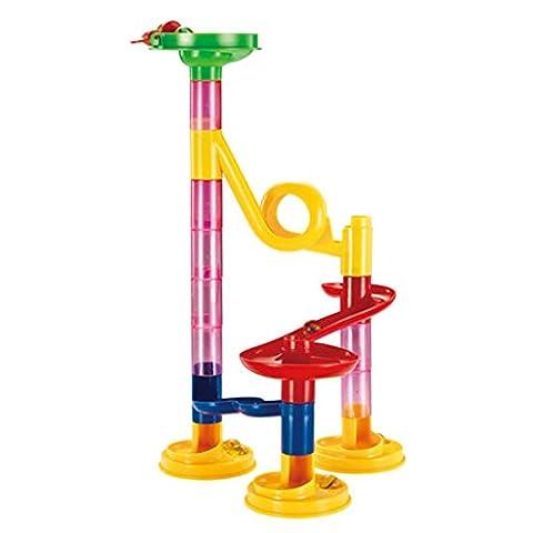 Gazechimp Kit 29pcs Blocs de Construction Piste de Billes Circuit Bricolage Tour Jouet Enfant Cadeau #A