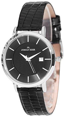 Analoge JORDAN KERR Armbanduhr Lederarmband Datum nickelfrei + Box, ZJK72B99J6S/1