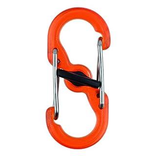 Nite Ize S-Biner MicroLock, Kunststoff, durchsichtig-orange, 2 STK Doppelhaken